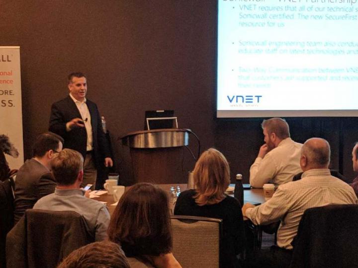 VNET's Brad Wiertel Addresses Sonicwall Partner Conference