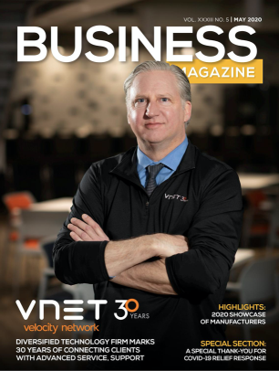 Business Magazine - May Issue Featuring VNET & CEO Joel Deuterman